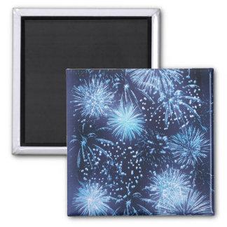 Fireworks exploding magnets - invitation template