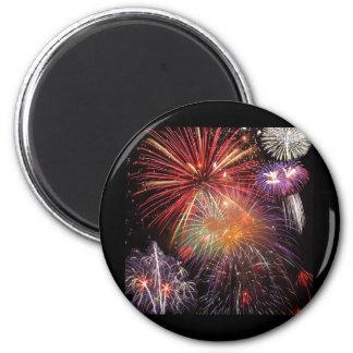 Fireworks Finale 6 Cm Round Magnet