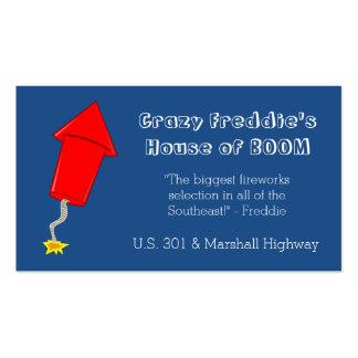 Fireworks Firecracker Business Card