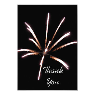 Fireworks Flat Thank You Note Card 9 Cm X 13 Cm Invitation Card