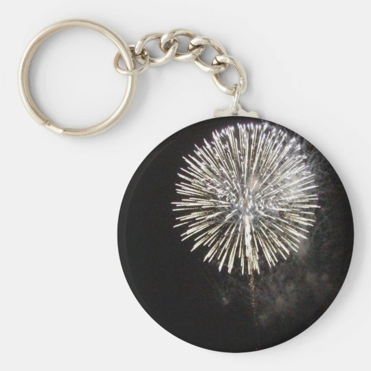 Fireworks For The Fourth In Mira Mesa Were Pretty Basic Round Button Key Ring