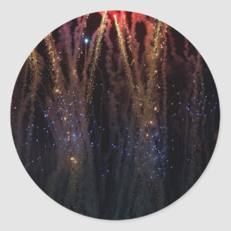 Fireworks Fourth of July Sky Lights Classic Round Sticker