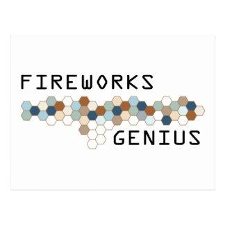 Fireworks Genius Postcard