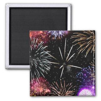 Fireworks Grande Finale Square Magnet