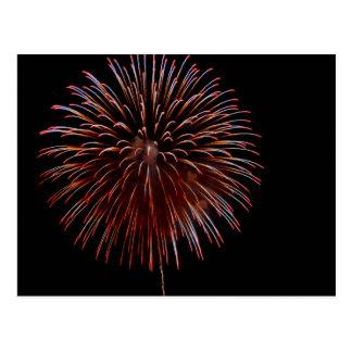 Fireworks (hanabi) postcard