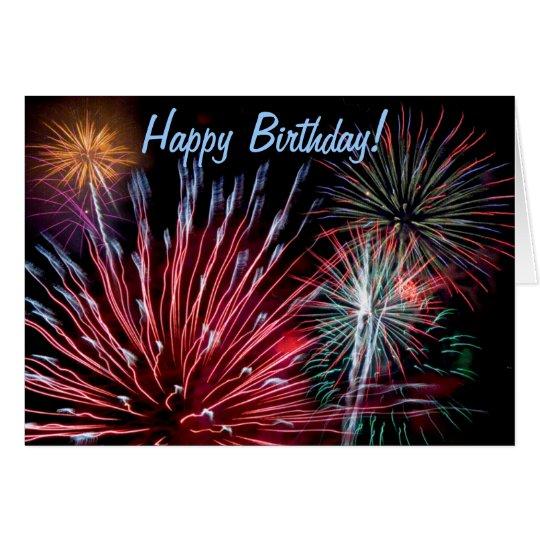 Fireworks, Happy Birthday! Card