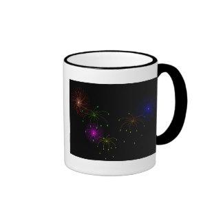 Fireworks Hapy New Year Coffee Mugs