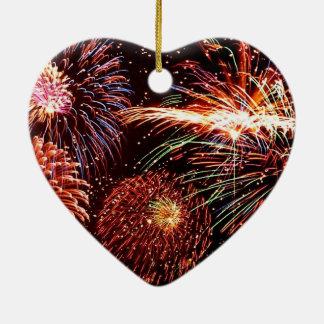 Fireworks Heart Ornament