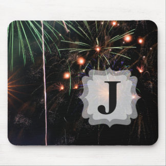 Fireworks II with Custom Initial Mouse Mat