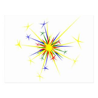 Fireworks Illustration Post Cards