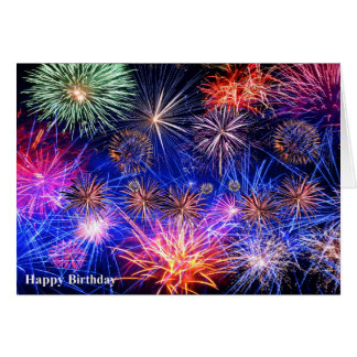 Fireworks image for Birthday greeting card