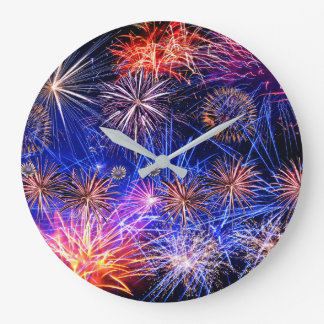 Fireworks image for Round (Large) Wall Clock