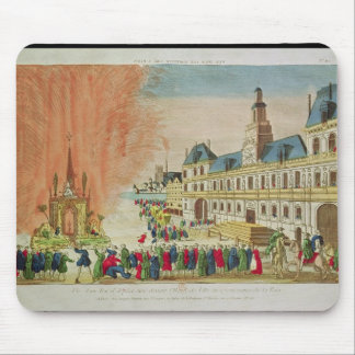 Fireworks in front of the Hotel de Ville in Paris Mouse Mat