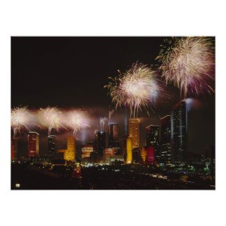 Fireworks in Houston Texas Poster