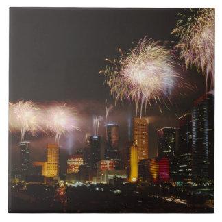 Fireworks in Houston Texas Tile