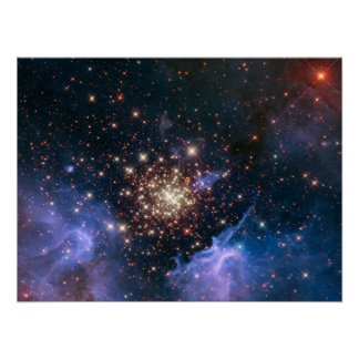 Fireworks in Space Poster