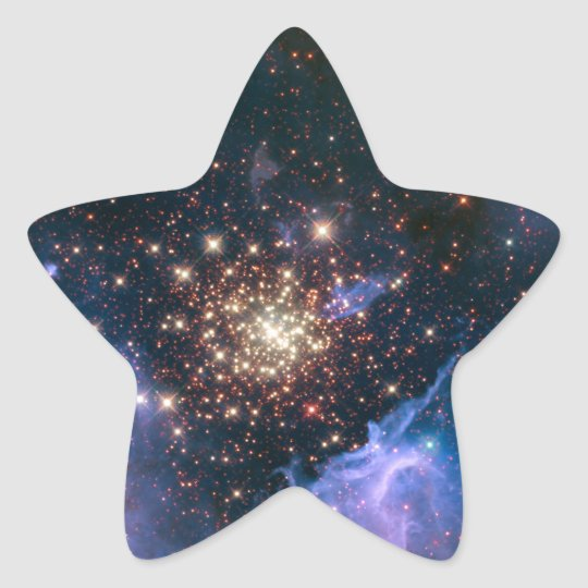 Fireworks in Space Star Sticker