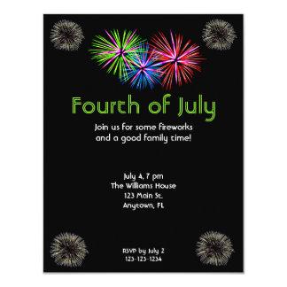 "Fireworks Invitation 4.25"" X 5.5"" Invitation Card"