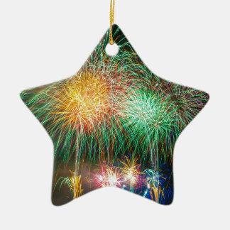 Fireworks Light Japan Festival Ceramic Star Decoration