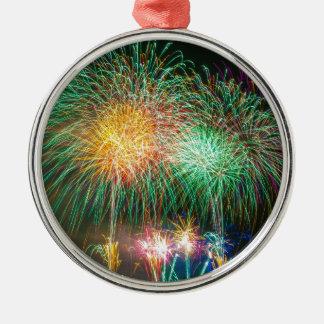 Fireworks Light Japan Festival Silver-Colored Round Decoration