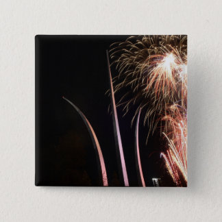 Fireworks light up the Air Force Memorial 15 Cm Square Badge