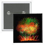 Fireworks Lighting up the Sky 15 Cm Square Badge