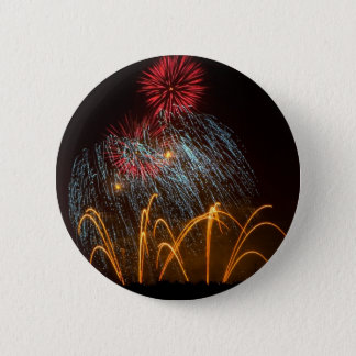 Fireworks Lighting up the Sky 6 Cm Round Badge