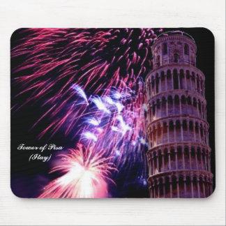 Fireworks LightingTower of Pisa  Mousepad
