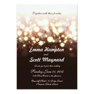 Fireworks lights and stars classic wedding invite