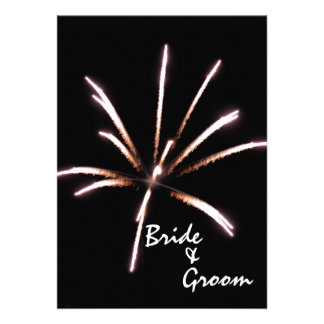 Fireworks Marriage Elopement Announcement