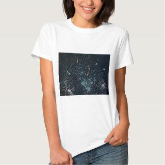 fireworks meteor splash aqua t shirt