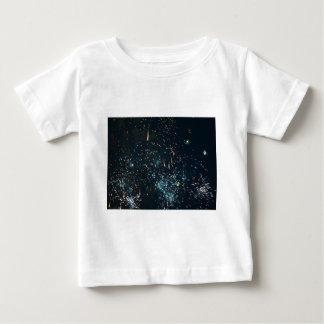 fireworks meteor splash aqua t-shirts