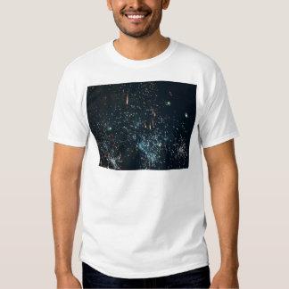 fireworks meteor splash aqua tshirt