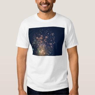 fireworks meteor splash blue swoosh shirt