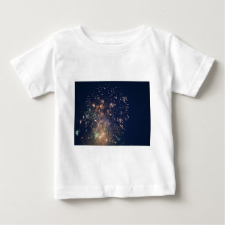 fireworks meteor splash blue swoosh t shirts