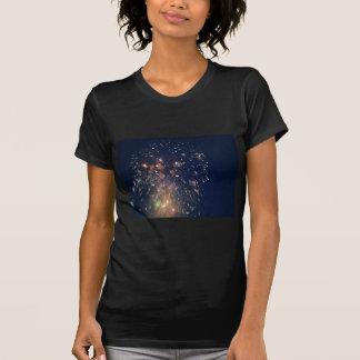 fireworks meteor splash blue swoosh tee shirt