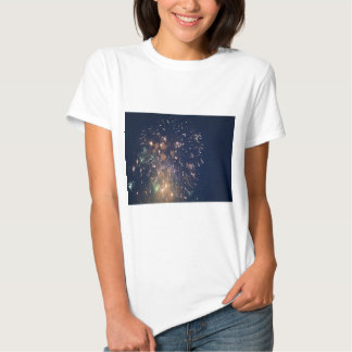 fireworks meteor splash blue swoosh tees