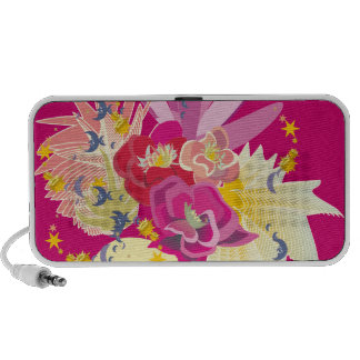 Fireworks of tropical flowers Doodle Travelling Speakers