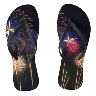Fireworks on flip flops