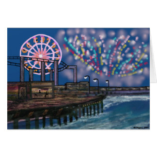Fireworks on the boardwalk Cards