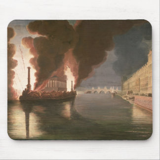 Fireworks on the Seine Mouse Mat