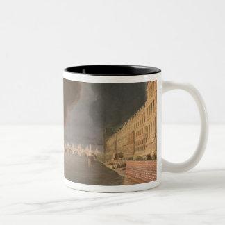 Fireworks on the Seine Two-Tone Coffee Mug