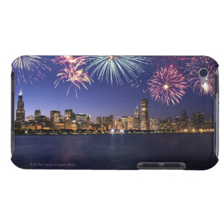 Fireworks over Chicago skyline 2 iPod Touch Case