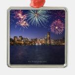 Fireworks over Chicago skyline 2 Ornaments