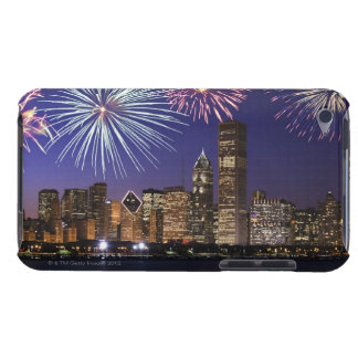 Fireworks over Chicago skyline Barely There iPod Case