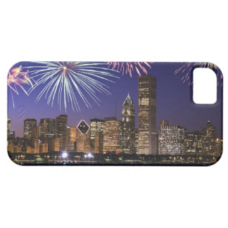Fireworks over Chicago skyline Case For The iPhone 5