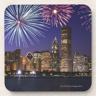 Fireworks over Chicago skyline Coaster