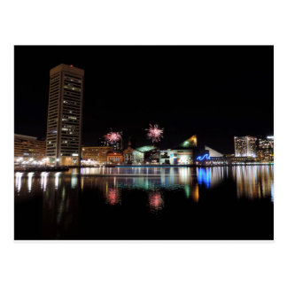 Fireworks over Downtown Baltimore Postcard