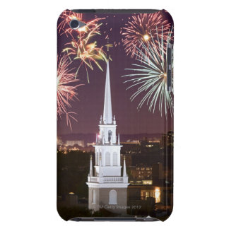 Fireworks over downtown Boston landmark Barely There iPod Case