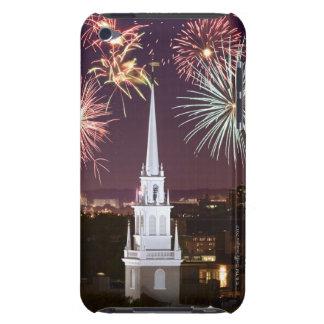 Fireworks over downtown Boston landmark iPod Touch Cases